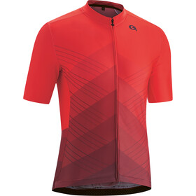 Gonso Bonhomme Full-Zip SS Bike Jersey Men, high risk red